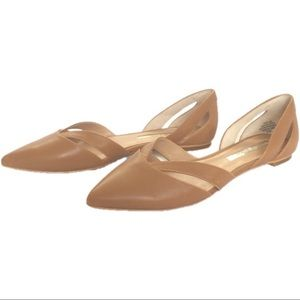 """Audrey Brooke """"Nary"""" Pointed Toe Leather Flats"""